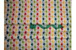 Бязь детская, 150 см, Сердечки разноцветные, остаток 1,25 м