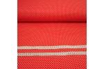 Бязь плательная, 150 см, Горох на красном, остаток 1,2 м