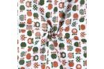 Бязь плательная, 150 см, Яблоки пэчворк коричневый
