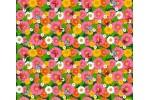Вафельное полотно набивное, 150 см, Бабочки на цветах