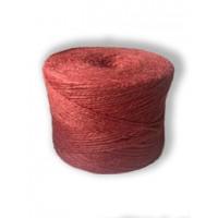 Шпагат джутовый 1,2 текс П 2 полированный в бобинах, 0,5 кг, Красный