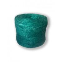Шпагат джутовый 1,2 текс П 2 полированный в бобинах, 0,5 кг, Зеленый
