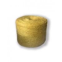 Шпагат джутовый 1,2 текс П 2 полированный в бобинах, 0,5 кг, Желтый