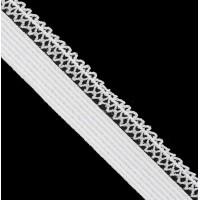 Резинка бельевая (ажурная), 12мм, цв. белый