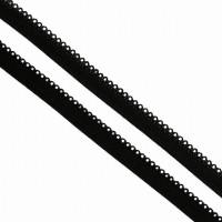 Резинка бельевая (ажурная), 10мм, цв. черный