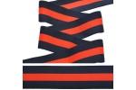 Резинка декоративная, мягкая, 40 мм, цв. синий/красный