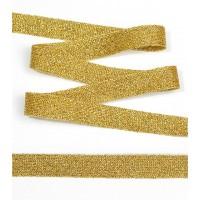 Тесьма трикотажная Лампас, шир.15мм, цв. золото